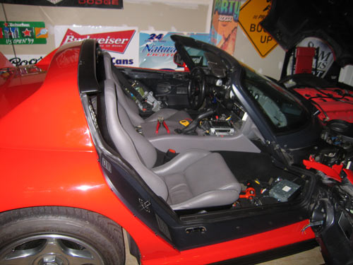 Dodge Viper interior apart