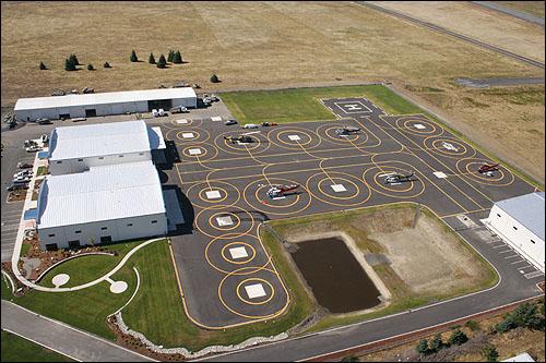 Northwest Helicopters 18 helipad facility