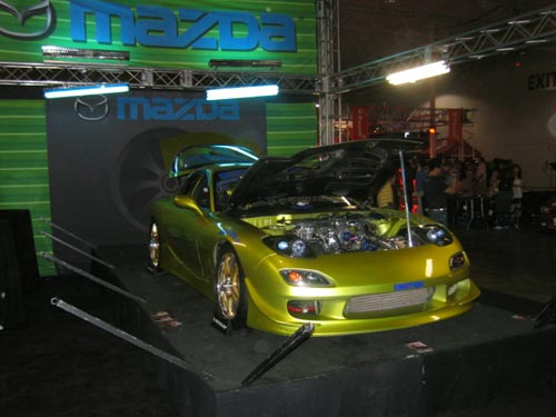 Green RX-7 from Hot Import Nights 2007 Washington DC
