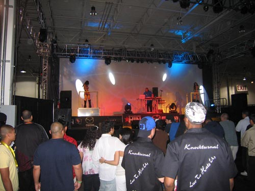 Model stage from Hot Import Nights 2007 Washington DC