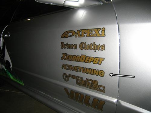 ActiveTuning decal on R32 GT-R Skyline