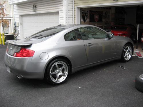 19?? Volk SF Challenge wheels on my G35 coupe