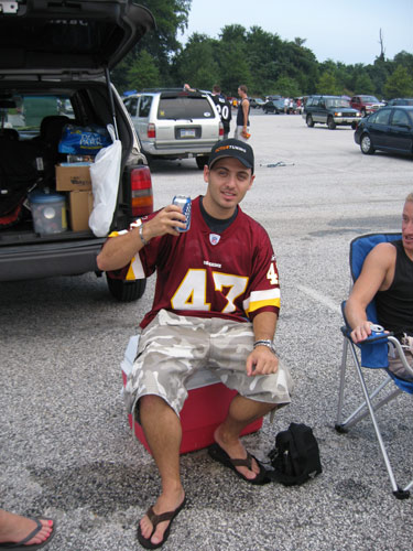 Me tailgating at the Redskins game
