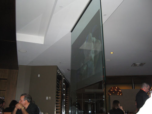 Glass screen at Chima