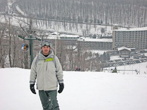 Top of the mountain at 7 Springs