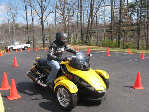 Me riding the BRP Can-Am Spyder