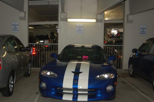 Viper in a hybrid parking spot