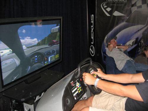 Lexus IS-F simulator
