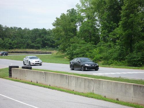 Lexus IS-F\'s road racing