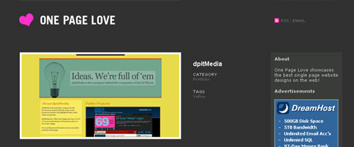 dpitMedia featured on One Page Love