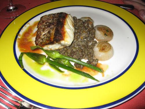 Pan roasted halibut