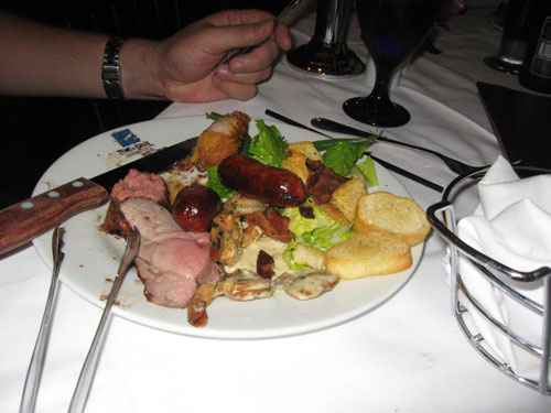 Plate of meat