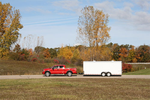 Trucks towing