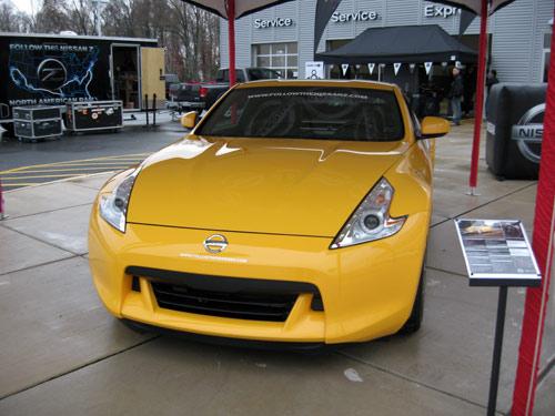 Yellow Nissan 370Z