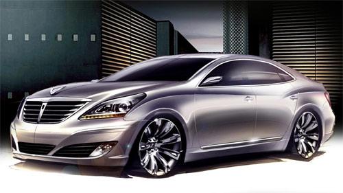Hyundai Equus front sketch