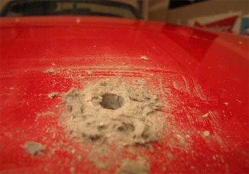 Drill hole in Viper hood